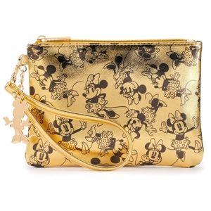 Minnie Mouse Golden Wristlet